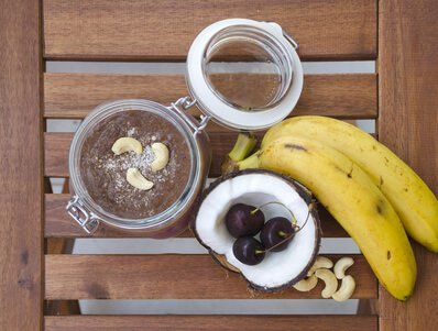 Kokosöl-Cashew-Creme im Glas