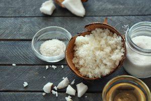 Kokosöl-Peeling