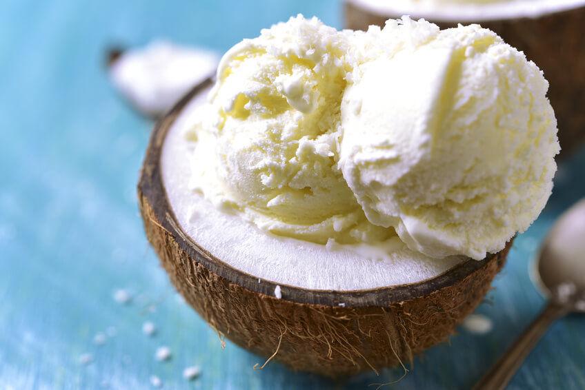 Kokosöl-Kokosmilch-Eis