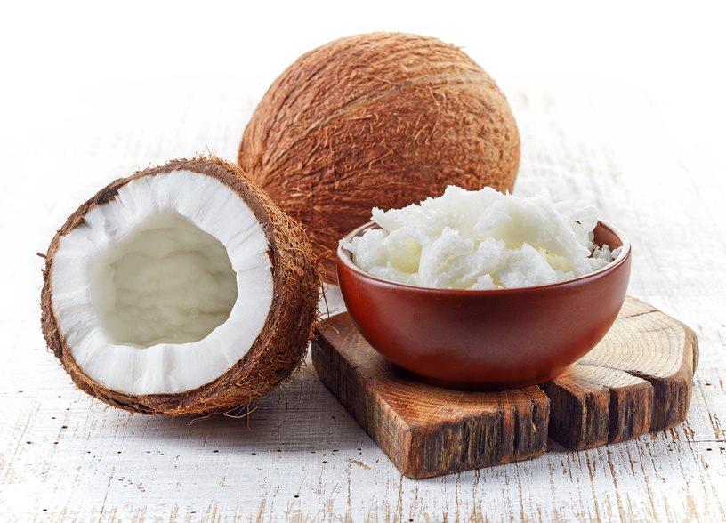Kopra Der Getrocknete Weiße Fruchtkern Der Kokosnuss