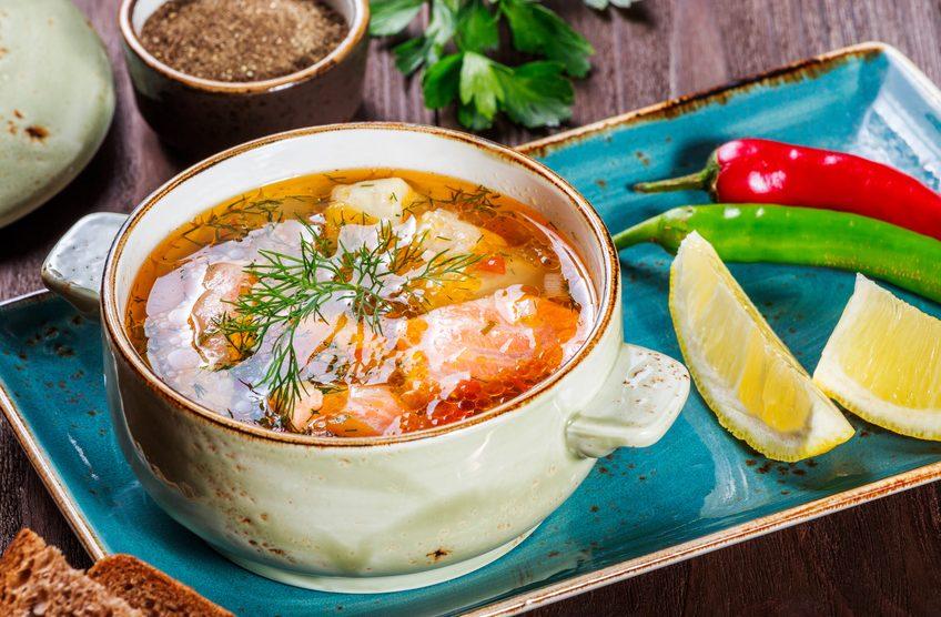 Kokos-Fischsuppe