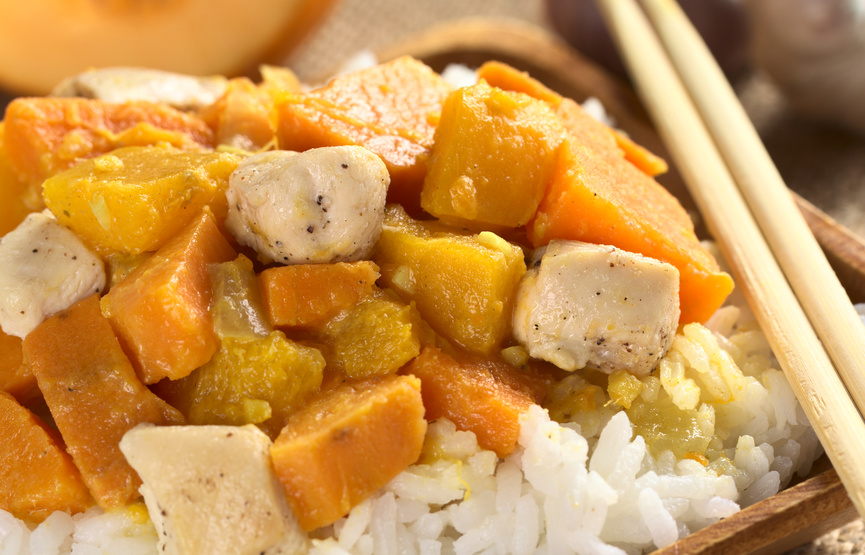 Hähnchen Curry-Ananas