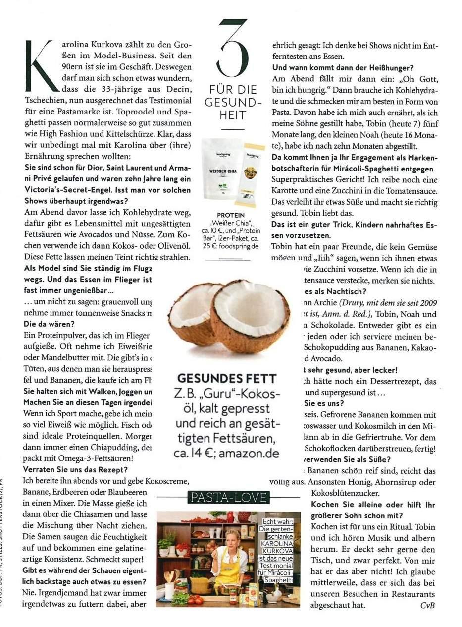 Models lieben Kokosöl