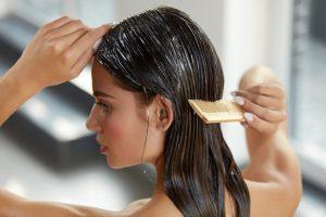 kräftigende Kokosöl Haarmaske