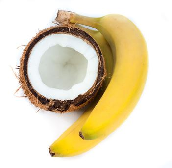 Kokos und Banane