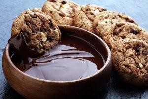 Cookies mit Schoko-Splittern und Kokosöl