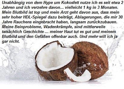 Erfahrungen mit Kokosöl
