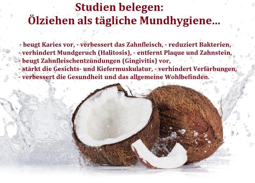Ölziehen mit Kokosöl