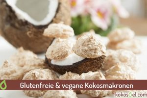 Glutenfreie vegane Kokosmakronen
